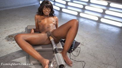 Photo number 9 from Ebony Barbie Squirts On Massive Cocks And Begs For More!! shot for Fucking Machines on Kink.com. Featuring Ana Foxxx in hardcore BDSM & Fetish porn.