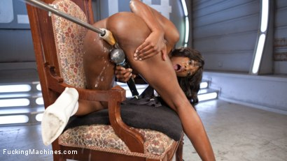 Photo number 4 from Ebony Barbie Squirts On Massive Cocks And Begs For More!! shot for Fucking Machines on Kink.com. Featuring Ana Foxxx in hardcore BDSM & Fetish porn.
