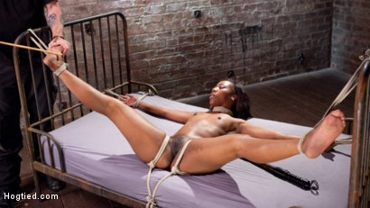 Photo number 11 from Super Slut in Tight Bondage, Grueling Punishment, and Mind Blowing Orgasms!!! shot for Hogtied on Kink.com. Featuring Chanell Heart and The Pope in hardcore BDSM & Fetish porn.