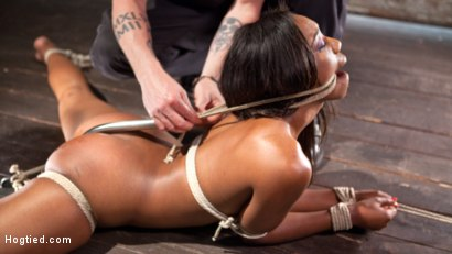 Photo number 14 from Super Slut in Tight Bondage, Grueling Punishment, and Mind Blowing Orgasms!!! shot for Hogtied on Kink.com. Featuring Chanell Heart and The Pope in hardcore BDSM & Fetish porn.