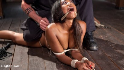 Photo number 15 from Ebony Super Slut in Tight Bondage, Grueling Punishment, and Mind Blowing Orgasms!!! shot for Hogtied on Kink.com. Featuring Chanell Heart and The Pope in hardcore BDSM & Fetish porn.
