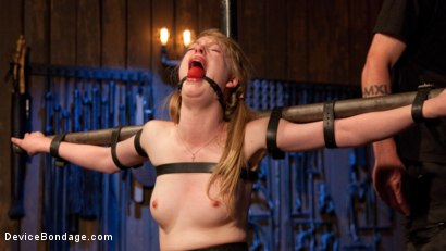 Photo number 10 from Fair Skinned First Timer Begs for Extreme Domination!! shot for Device Bondage on Kink.com. Featuring Dolly Leigh and The Pope in hardcore BDSM & Fetish porn.
