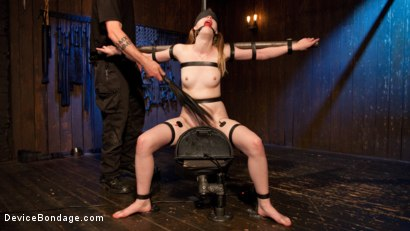 Photo number 14 from Fair Skinned First Timer Begs for Extreme Domination!! shot for Device Bondage on Kink.com. Featuring Dolly Leigh and The Pope in hardcore BDSM & Fetish porn.