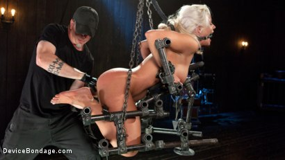 Photo number 4 from Welcome Home Slut!! shot for Device Bondage on Kink.com. Featuring Holly Heart and The Pope in hardcore BDSM & Fetish porn.