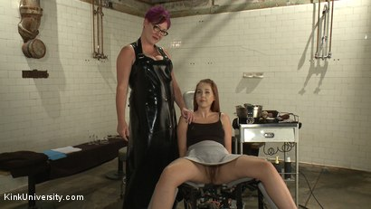 Photo number 3 from Erotic Shaving - How to Make Your Partner's Pussy Pube-less shot for Kink University on Kink.com. Featuring Mistress Minax and Aali Rousseau in hardcore BDSM & Fetish porn.