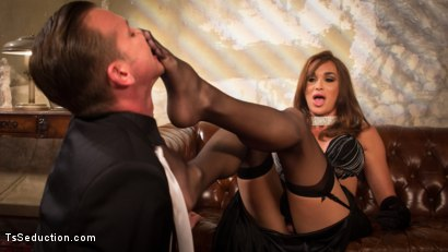 Photo number 4 from The Widow Walks: Debut of Jonelle Brooks, the Ultimate Femme Fatale shot for TS Seduction on Kink.com. Featuring Will Havoc and Jonelle Brooks in hardcore BDSM & Fetish porn.