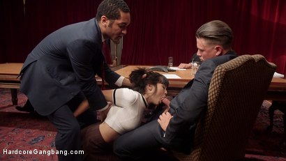 Photo number 1 from Feminist Gets Boarded: Board of Directors Takes Down Desperate Writer! shot for Hardcore Gangbang on Kink.com. Featuring Milcah Halili, Karlo Karrera, Mickey Mod, D Snoop, Astral Dust and Bradley Remington in hardcore BDSM & Fetish porn.