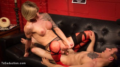 Photo number 12 from Rammed at the Record Store shot for TS Seduction on Kink.com. Featuring Nina Lawless and Corbin Dallas in hardcore BDSM & Fetish porn.