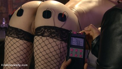 Photo number 3 from E-Stim 101: Introduction to Electrosex shot for Kink University on Kink.com. Featuring Fivestar and Ingrid Mouth in hardcore BDSM & Fetish porn.