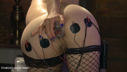 Photo number 9 from E-Stim 101: Introduction to Electrosex shot for Kink University on Kink.com. Featuring Fivestar and Ingrid Mouth in hardcore BDSM & Fetish porn.