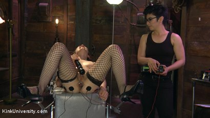Photo number 10 from E-Stim 101: Introduction to Electrosex shot for Kink University on Kink.com. Featuring Fivestar and Ingrid Mouth in hardcore BDSM & Fetish porn.