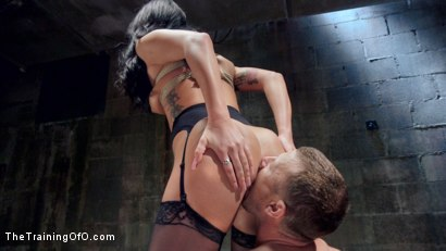 Photo number 12 from Petite Brunette Pussy Pounding in Hardcore Bondage shot for The Training Of O on Kink.com. Featuring Sabrina Banks and Mr. Pete in hardcore BDSM & Fetish porn.