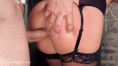 Photo number 4 from Petite Brunette Pussy Pounding in Hardcore Bondage shot for The Training Of O on Kink.com. Featuring Sabrina Banks and Mr. Pete in hardcore BDSM & Fetish porn.