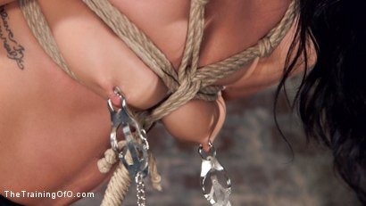 Photo number 5 from Petite Brunette Pussy Pounding in Hardcore Bondage shot for The Training Of O on Kink.com. Featuring Sabrina Banks and Mr. Pete in hardcore BDSM & Fetish porn.