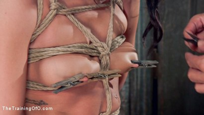 Photo number 9 from Petite Brunette Pussy Pounding in Hardcore Bondage shot for The Training Of O on Kink.com. Featuring Sabrina Banks and Mr. Pete in hardcore BDSM & Fetish porn.