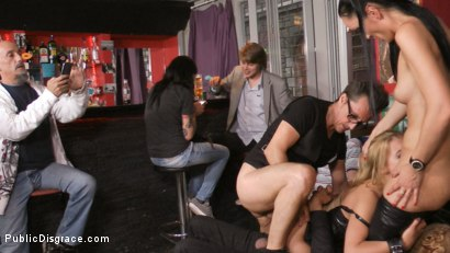 Photo number 15 from Blonde Anal Slut Disgraced on Dirty Streets shot for Public Disgrace on Kink.com. Featuring Fetish Liza, Nikki Thorne and Conny Dachs in hardcore BDSM & Fetish porn.