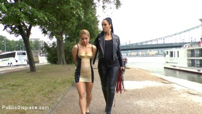 Photo number 2 from Blonde Anal Slut Disgraced on Dirty Streets shot for Public Disgrace on Kink.com. Featuring Fetish Liza, Nikki Thorne and Conny Dachs in hardcore BDSM & Fetish porn.