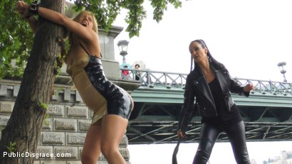 Photo number 3 from Blonde Anal Slut Disgraced on Dirty Streets shot for Public Disgrace on Kink.com. Featuring Fetish Liza, Nikki Thorne and Conny Dachs in hardcore BDSM & Fetish porn.