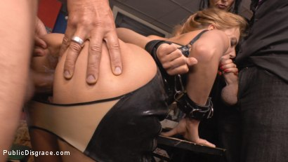 Photo number 9 from Blonde Anal Slut Disgraced on Dirty Streets shot for Public Disgrace on Kink.com. Featuring Fetish Liza, Nikki Thorne and Conny Dachs in hardcore BDSM & Fetish porn.