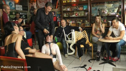 Photo number 16 from Disgusting Piss Guzzling Slut Paraded Through Budapest shot for Public Disgrace on Kink.com. Featuring Fetish Liza, Steve Holmes, Conny Dachs and Lucia Love in hardcore BDSM & Fetish porn.