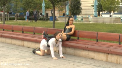 Photo number 3 from Disgusting Piss Guzzling Slut Paraded Through Budapest shot for Public Disgrace on Kink.com. Featuring Fetish Liza, Steve Holmes, Conny Dachs and Lucia Love in hardcore BDSM & Fetish porn.