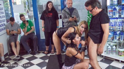 Photo number 8 from The Disgrace that is Anal Slut Coco de Mal shot for Public Disgrace on Kink.com. Featuring Steve Holmes, Nikki Thorne, Conny Dachs and Coco de Mal in hardcore BDSM & Fetish porn.