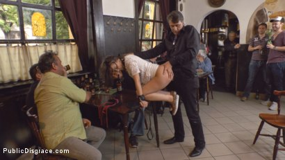 Photo number 17 from Teen Exposed and Fucked in Public  shot for Public Disgrace on Kink.com. Featuring Steve Holmes and Anina Silk in hardcore BDSM & Fetish porn.