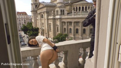 Photo number 5 from Teen Exposed and Fucked in Public  shot for Public Disgrace on Kink.com. Featuring Steve Holmes and Anina Silk in hardcore BDSM & Fetish porn.
