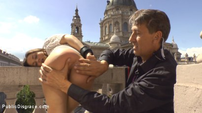 Photo number 9 from Teen Exposed and Fucked in Public  shot for Public Disgrace on Kink.com. Featuring Steve Holmes and Anina Silk in hardcore BDSM & Fetish porn.