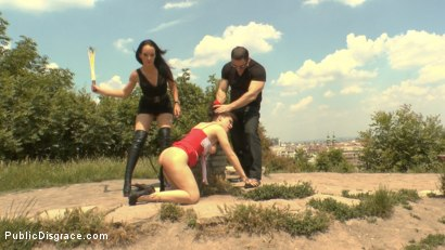 Photo number 2 from Fetish Liza & John Strong humiliate Fuck Doll Chiara in Budapest!!! shot for Public Disgrace on Kink.com. Featuring Fetish Liza, John Strong and Chiara Diletto in hardcore BDSM & Fetish porn.