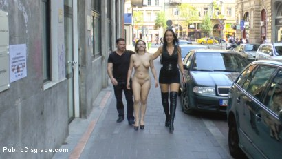 Photo number 4 from Fetish Liza & John Strong humiliate Fuck Doll Chiara in Budapest!!! shot for Public Disgrace on Kink.com. Featuring Fetish Liza, John Strong and Chiara Diletto in hardcore BDSM & Fetish porn.
