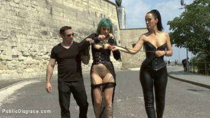 Photo number 2 from Disobedient Slut Gets Publicly Punished shot for Public Disgrace on Kink.com. Featuring Fetish Liza, John Strong and Lola in hardcore BDSM & Fetish porn.