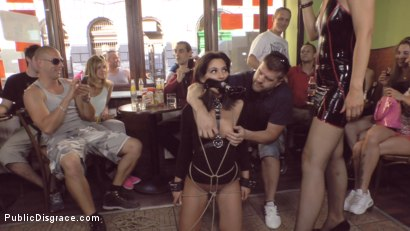 Photo number 15 from Bella Beretta's Teen Pussy gets Publicly Pounded shot for Public Disgrace on Kink.com. Featuring Fetish Liza, Bella Beretta and John Strong in hardcore BDSM & Fetish porn.
