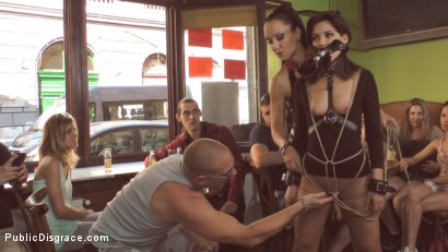 Photo number 3 from Bella Beretta's Teen Pussy gets Publicly Pounded shot for Public Disgrace on Kink.com. Featuring Fetish Liza, Bella Beretta and John Strong in hardcore BDSM & Fetish porn.