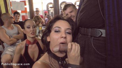 Photo number 8 from Bella Beretta's Teen Pussy gets Publicly Pounded shot for Public Disgrace on Kink.com. Featuring Fetish Liza, Bella Beretta and John Strong in hardcore BDSM & Fetish porn.