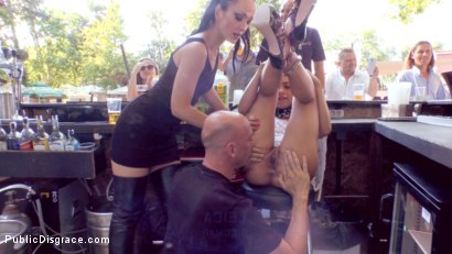 Photo number 12 from Slut with No Manners Gets the Cops Called While Sucking Dicks Outside shot for publicdisgrace on Kink.com. Featuring Fetish Liza, Steve Holmes, Nomi Melone and RAM in hardcore BDSM & Fetish porn.
