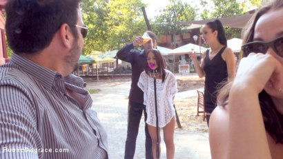 Photo number 8 from Slut with No Manners Gets the Cops Called While Sucking Dicks Outside shot for publicdisgrace on Kink.com. Featuring Fetish Liza, Steve Holmes, Nomi Melone and RAM in hardcore BDSM & Fetish porn.
