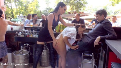 Photo number 10 from Slut with No Manners Gets the Cops Called While Sucking Dicks Outside shot for Public Disgrace on Kink.com. Featuring Fetish Liza, Steve Holmes, Nomi Melone and RAM in hardcore BDSM & Fetish porn.