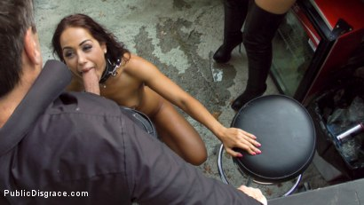 Photo number 17 from Slut with No Manners Gets the Cops Called While Sucking Dicks Outside shot for Public Disgrace on Kink.com. Featuring Fetish Liza, Steve Holmes, Nomi Melone and RAM in hardcore BDSM & Fetish porn.