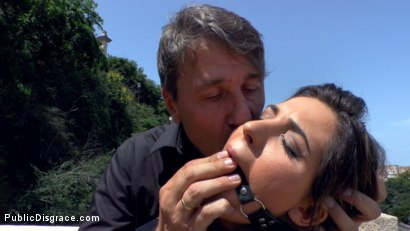 Photo number 1 from Budapest Babe Gets Bound and Brutalized  shot for Public Disgrace on Kink.com. Featuring Steve Holmes, Tina Kay, RAM and Bella Beretta in hardcore BDSM & Fetish porn.