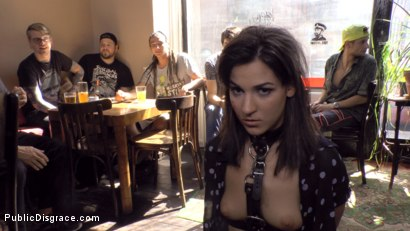 Photo number 5 from Budapest Babe Gets Bound and Brutalized  shot for Public Disgrace on Kink.com. Featuring Steve Holmes, Tina Kay, RAM and Bella Beretta in hardcore BDSM & Fetish porn.