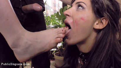 Photo number 6 from Budapest Babe Gets Bound and Brutalized  shot for Public Disgrace on Kink.com. Featuring Steve Holmes, Tina Kay, RAM and Bella Beretta in hardcore BDSM & Fetish porn.