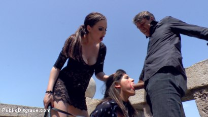 Photo number 4 from Budapest Babe Gets Bound and Brutalized  shot for Public Disgrace on Kink.com. Featuring Steve Holmes, Tina Kay, RAM and Bella Beretta in hardcore BDSM & Fetish porn.