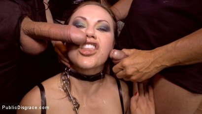 Photo number 18 from Tina Kay Gets Put in Her Place shot for Public Disgrace on Kink.com. Featuring Steve Holmes, Frank Gun, Tina Kay and Zara DuRose in hardcore BDSM & Fetish porn.