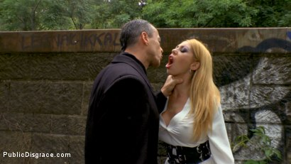 Photo number 3 from Busty Blonde Isabella Clark Public Double Penetration - Part 2 shot for Public Disgrace on Kink.com. Featuring Steve Holmes, Frank Gun and Isabella Clark in hardcore BDSM & Fetish porn.