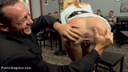 Photo number 4 from Busty Blonde Isabella Clark Public Double Penetration - Part 2 shot for Public Disgrace on Kink.com. Featuring Steve Holmes, Frank Gun and Isabella Clark in hardcore BDSM & Fetish porn.