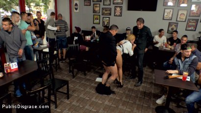 Photo number 6 from Busty Blonde Isabella Clark Public Double Penetration - Part 2 shot for Public Disgrace on Kink.com. Featuring Steve Holmes, Frank Gun and Isabella Clark in hardcore BDSM & Fetish porn.