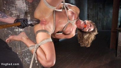 Photo number 12 from Ariel X - Extreme Bondage, Brutal Torment, and Squirting Orgasms!!! shot for hogtied on Kink.com. Featuring Ariel X and The Pope in hardcore BDSM & Fetish porn.