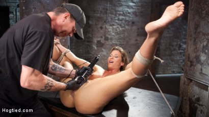 Photo number 15 from Ariel X - Extreme Bondage, Brutal Torment, and Squirting Orgasms!!! shot for Hogtied on Kink.com. Featuring Ariel X and The Pope in hardcore BDSM & Fetish porn.