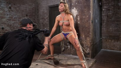 Photo number 2 from Ariel X - Extreme Bondage, Brutal Torment, and Squirting Orgasms!!! shot for hogtied on Kink.com. Featuring Ariel X and The Pope in hardcore BDSM & Fetish porn.
